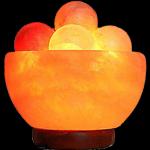 Salt Bowl Lamp with Massage Ball.