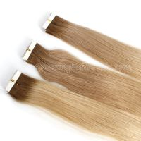 Tape-on Hair Dark Brown Blonde T Color