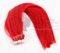 Flat Tape-in Skin Weft Hair Red