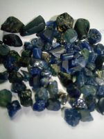 blue sapphire 100% natural rough/tourmaline