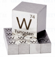 Tungsten gold cube 1kg fishing application in toy cars balance weight manufacturer from China baoji tianbo