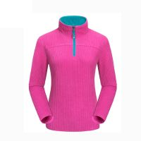 Womens Half Zip Pullover Fleece Sweater 230g Light Weight