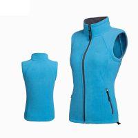 Professional Manufacturer of windproof warm 100% polyester 280G polar fleece vest For Women