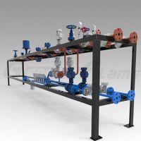 Sell flammable oil or liquid valve train for burner