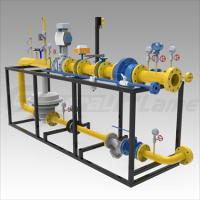 Sell gas valve train for burner
