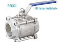 3pcs threaded ball valve