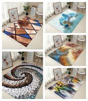 Creative Europe Type 3D Printing Carpet Hallway Doormat Anti - Slip Bathroom Carpet Absorb Water Kitchen Mat/Rug