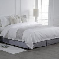 Eliya Luxury Designs Satin Stripe 100 Egyptian Cotton Single Bedding Linen Sheet Set White Bed Sheets Hotel