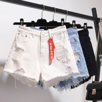 European and American loose wide leg hot pants light color slim girls shorts