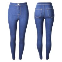 European and American high stretch wash slim bottom jeans for women
