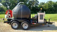Trojan High Volume Trailer Mounted Sewer & Drain Jetter 50 HP, 525 Gallon Tank