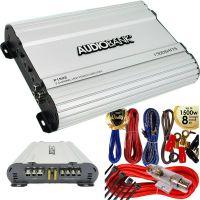 Audiobank 2 Channels 1500W Bridgedable Car Audio Stereo Amplifier + 8 GA Amp Kit