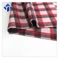 Best price double sided plaid wool fabric for winter dresses women