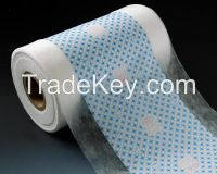 Breatheable laminated PE film for hygiene products