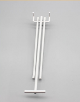 Hot sale metal chrome display pegboard hook for shops