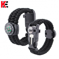 Wholesale factory camping material buckle flat knot bracelet
