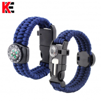 Hot wholesale outdoor activity compass three strand pattern Bracelet