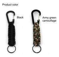 Paracord Accessories Army camouflage Keychain, Wholesale Factory Paracord 550 Rope Camouflage Keychain