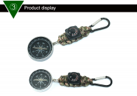 Thermometer compass climbing supplies key chain