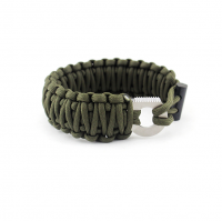 June new product Double layer adjustable bracelet for survival wild/hiking/camping