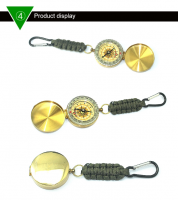 Hot sales Emergency  UV Light and Compass camo survival keychain