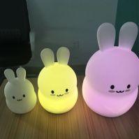 Silicone Night Light With Cartoon Shape like Cat, Rabbit, Bear for Kids