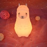 2019 New Arrival Alpaca Shaped Silicone Night Light Soft Touch For Children, Baby, Toddler