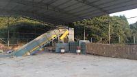 6t/h Hydraulic waste paper baling machine with belt conveyor