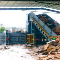 Automatic Waste Paper Baler with Conveyor