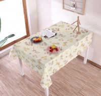 wholesale custom water proof  beautiful three layer printed pvc tablecloth table cover