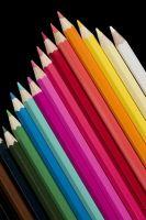 Color wooden  pencil