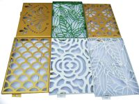 customerized carved aluminum veneer with drawings processing