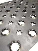 rectanglar, square, fan-shaped irregular punching steel plate