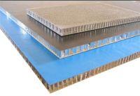 Fluorocarbon painted honeycomb aluminum plate