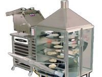 Tortilla shaping machine and oven set