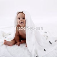Muslin baby Blanket, Super Soft, Smooth 70% MBOO 30% Cotton Muslin Swaddle