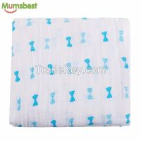 Super Soft Smooth 70% MBOO 30% Cotton Muslin Swaddle, Muslin Blanket