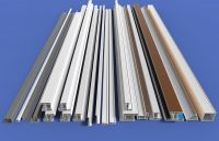 supply single-sided color plastic teel -60 casement  profiles