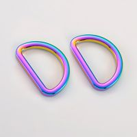 flat type metal d ring for hand bag, bag, luggage