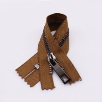 Wholesale Double Ended Zipper With 2 Slider Two Way Copper Open End Metal Zip Zipper For Luggage