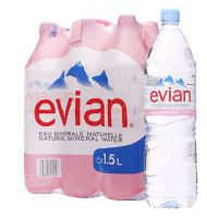 Buy Evian Natural Mineral Water in 330ML, 500ML, 750ML, 1L, 1.5L PET BOTTLES