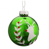 Glass Hot Air Balloon Christmas Hanging Ornament For Xmas Tree Decoration