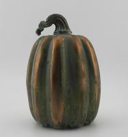 Decorative craft glass pumpkin shaped ornaments for Halloween