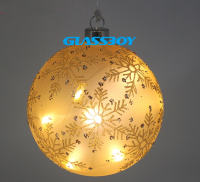 Decorative Christmas Glass Ball with Led String Light For Holiday Party Home Decoration