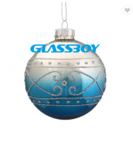 Factory Custom Glass Hot Air Balloon Christmas Hanging Ornament For Xmas Tree Decoration