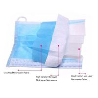 Wholesale 3ply Non woven Disposable Protective Medical Masks for Personal Safety 3 Ply Dust Surgical Face Mask
