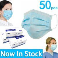 Non-woven outdoor protective masks 3piles civil medical surgical masks