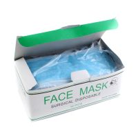 Cheapest China disposable mask manufacturer 3 ply breathable blue non-woven surgical face mask