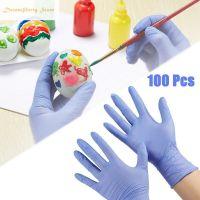 Blue nitrile exam gloves