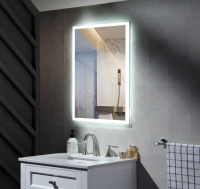 Aluminum frame Makeup bluetooth illuminated bath mirror wall mounted
